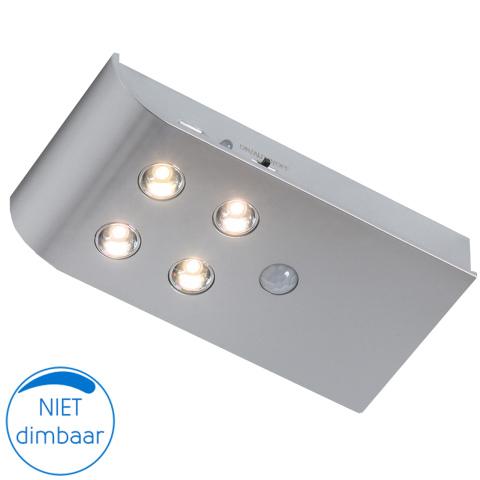 Napels kast- lade- deurverlichting LED zilver (1x)