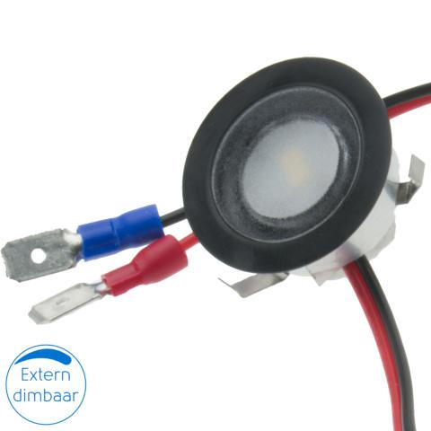 Piatto LED spot zwart 12V 0.4W (1x)